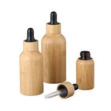 30 мл бамбука эфирное масло флакон-капельница бутылки 100 шт* 50 г бамбуковая баночка дизайн парфюмерное масло стеклянные бутылки с деревянной крышкой