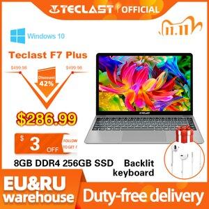 Image 1 - Teclast F7 Plus Laptop 14.1 Inch Notebook 8GB RAM 256GB SSD Windows 10 Intel Gemini Lake N4100 Quad Core 1920 x 1080 Ultra Thin
