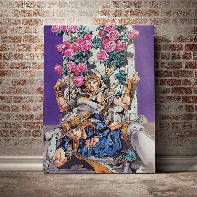Anime Role Wall Art Johnny Joestar Canvas Poster Painting Print JoJo's Bizarre Adventure Pictures STEEL BALL RUN Home Decoration
