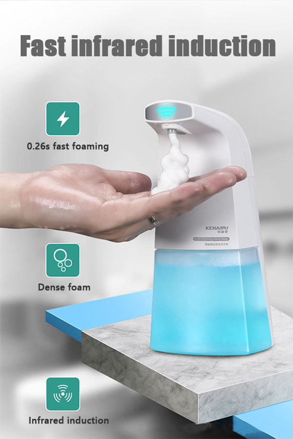 Ha435d72ca97942d2a8e40c5b1fef7a01Y KENAIPU Automatic Foam Soap Dispenser,Induction Liquid Hand Washing Machine,Smart Touchless Portable Infrared Sensor Dispenser