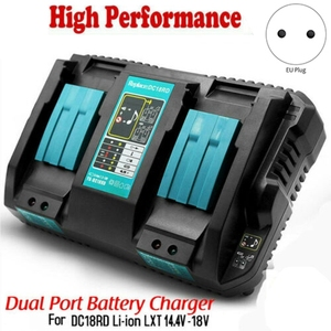 Dc18Rd Rapid Li-Ion Battery Charger Dual Usb Charging Port 6A 14.4V-18V For Makita Bl1415 Bl1430 Bl1815 Bl1830 Eu Plug(China)