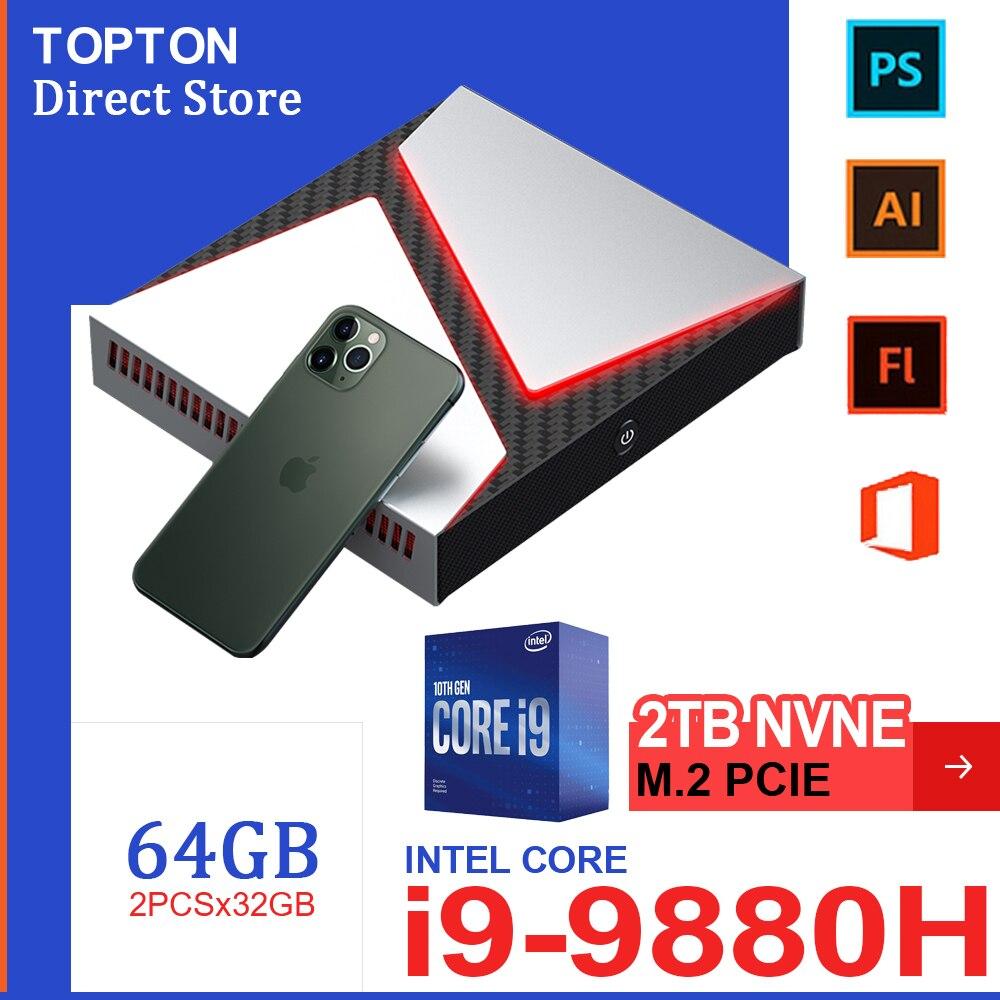 Игровой мини-ПК Intel Core i9-9880H i9 8950HK i7 9750H Nvidia GTX 1650 4 Гб игровой Настольный 2DDR4 64 Гб Windows10 4K DP HDMI AC WiFi пк мини пк windows 10 pro key пк игровой компьютер mini pc и...