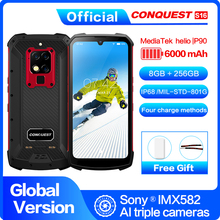 S16 IP68 Rugged Mobile Phone 6.3 Display Helio P90 Octa Core 8GB 256GB 48MP Cam Android 9 Infrared Remote Control Smartphone