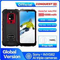 "S16 IP68 teléfono móvil robusto 6,3 ""Pantalla Helio P90 Octa Core 8GB 256GB 48MP Cam Android 9 Control remoto infrarrojo Smartphone"