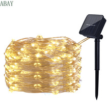 Lights-String Solar-Light Garland Decora Fairy LED Holiday Christmas-Party Wedding Outdoor