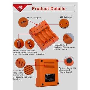Image 5 - Pkcell Kleurrijke Acculader 4 Slots Voor Nimh/Nicd Aa Aaa Batterijen Usb Onafhankelijke Opladen
