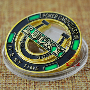 America Challenges Hollow out Chips Props Poker Card Guard LUCKY Commemorative Coins Color Baking Varnish Metal Souvenir Medal