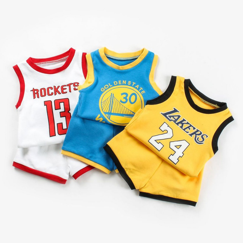 Summer Children Print Vest Tops+Shorts Costume Set Baby Boys Casual Sports Sleeveless Letters  Hot
