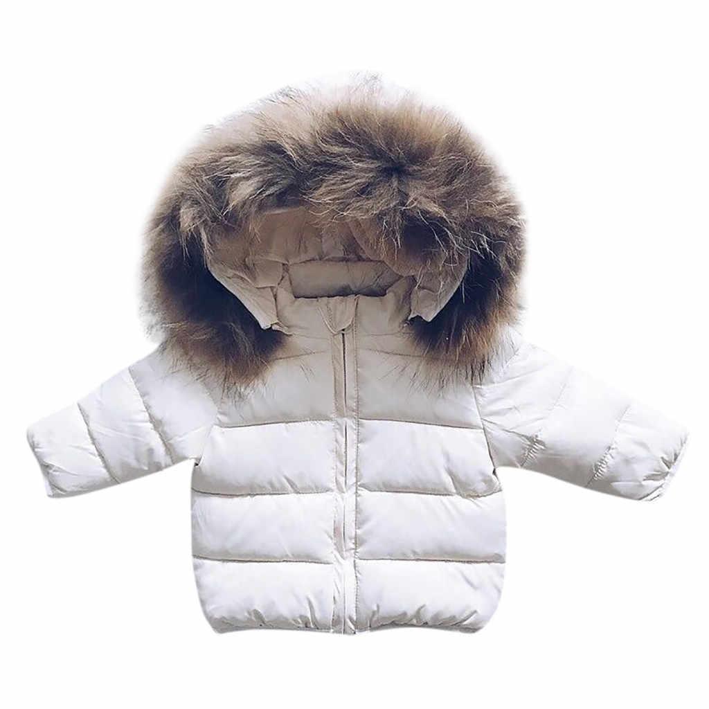 Одежда для маленьких мальчиков и девочек детская зимняя куртка для девочек, однотонная толстовка с капюшоном, зимнее пальто для малышей Милая теплая зимняя куртка для маленьких мальчиков и девочек