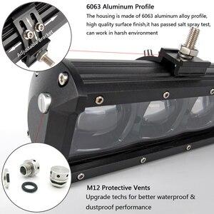 Image 5 - 6D עדשת Led אור בר מכביש עבור 4x4 Offroad 4WD טרקטורונים UAZ משאיות טרקטור סירת 12V 24V נהיגה עבודה Barra אורות רכב Retrofit
