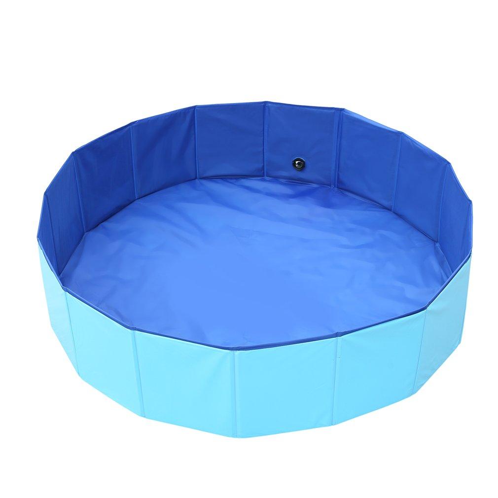 Dog Pool Foldable Pool font b Pet b font Bath Swimming Tub Bathtub Outdoor Indoor Collapsible