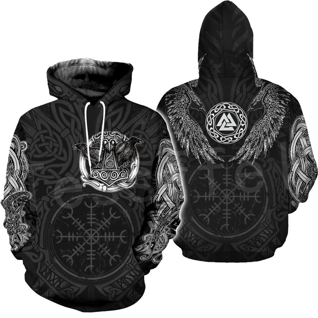 Tessffel Unisex Vikings Symbol Tattoo Viking Warriors NewFashion Harajuku MenWomen 3DPrint zipper/Sweatshirts/Hoodies/Jacket s-1