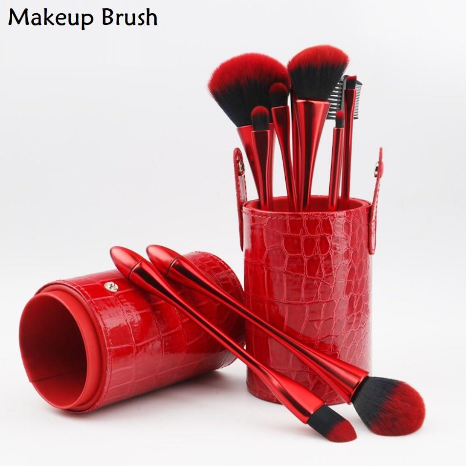 10Pcs Makeup Brushes Set Foundation Powder Blush Eyeshadow Eyebrow Concealer Contour Make Up Professional Beauty Cosmetics Tools