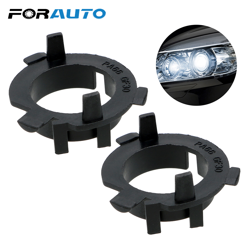 FORAUTO 2Pieces Car LED Headlight Clip Retainer LED Adapter Base For KIA K4 K5 Sorento Hyundai Veloster Santa Fe Sockets Adapter