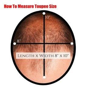 Image 4 - Evaglossメンズかつら 100% 本物の自然なレミー人間の髪かつらフレンチレース薄型puかつらの毛の交換システム