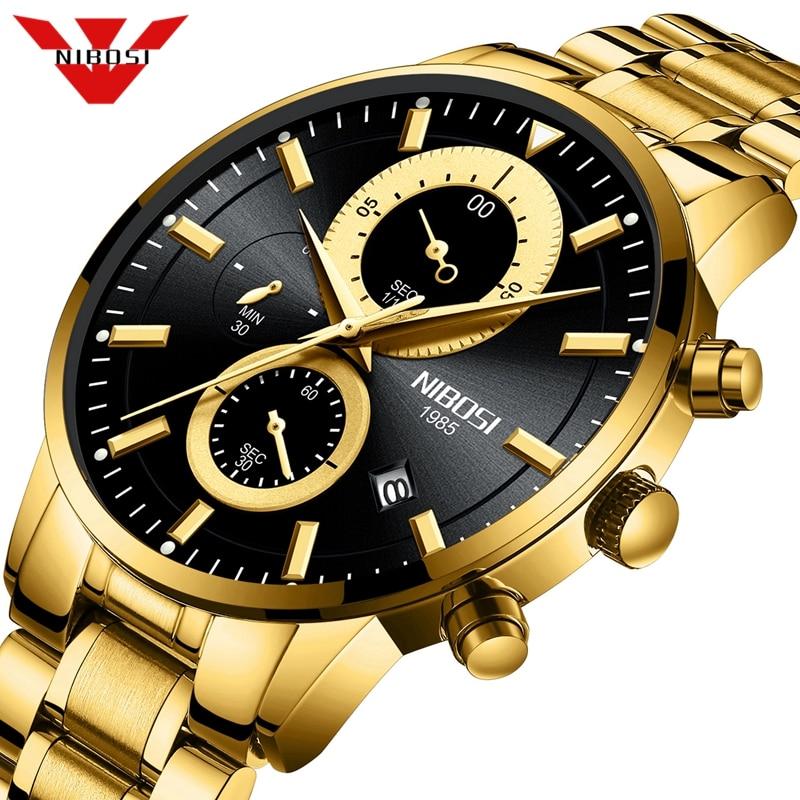 NIBOSI Men Watches Top Luxury Brand Sport Quartz W