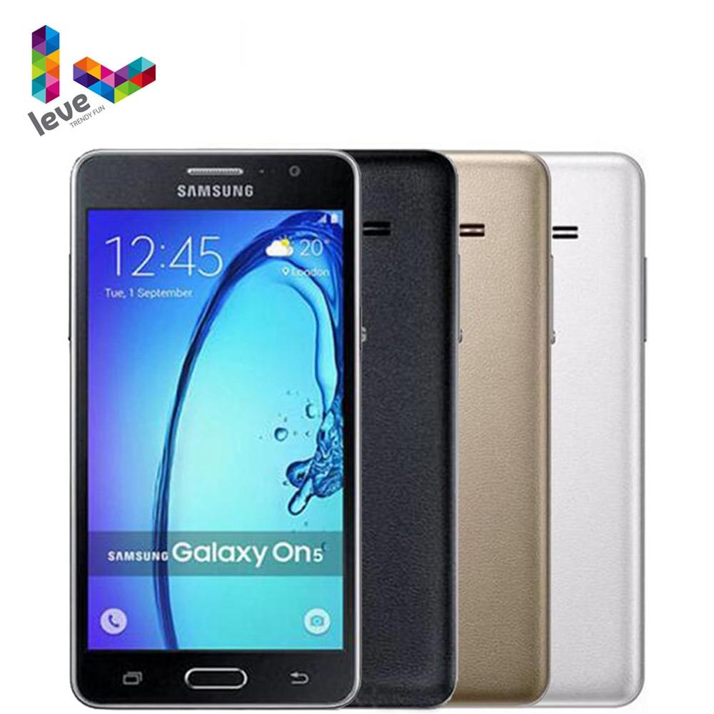 "Samsung Galaxy On5 SM-G5500 Dual SIM Handy Entsperrt 5,0 ""1,5 GB RAM 8GB ROM 8MP Quad Core 4G LTE Android Smartphone"