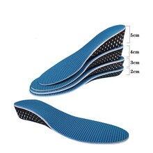 1 Pair Shoe Height Increase Insoles Women Men Eva Memory Foam Sports Shoes Adjustable Cut Heel Inserts Pads Cushion For Unisex texu men women increase height high half insoles memory foam shoe inserts cushion pads 3 3cm 1 3in