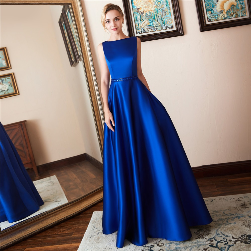 Women Dress Satin Bead Nail Long Evening Dress Backless Prom Party Dress Floor Length Evening Gown Dress For Wedding Party