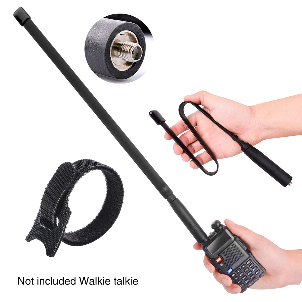 150/440MHz Foldable Antenna Walkie Talkie Outdoor Extend SMA Female VHF UHF Radio Signal Boost Dual
