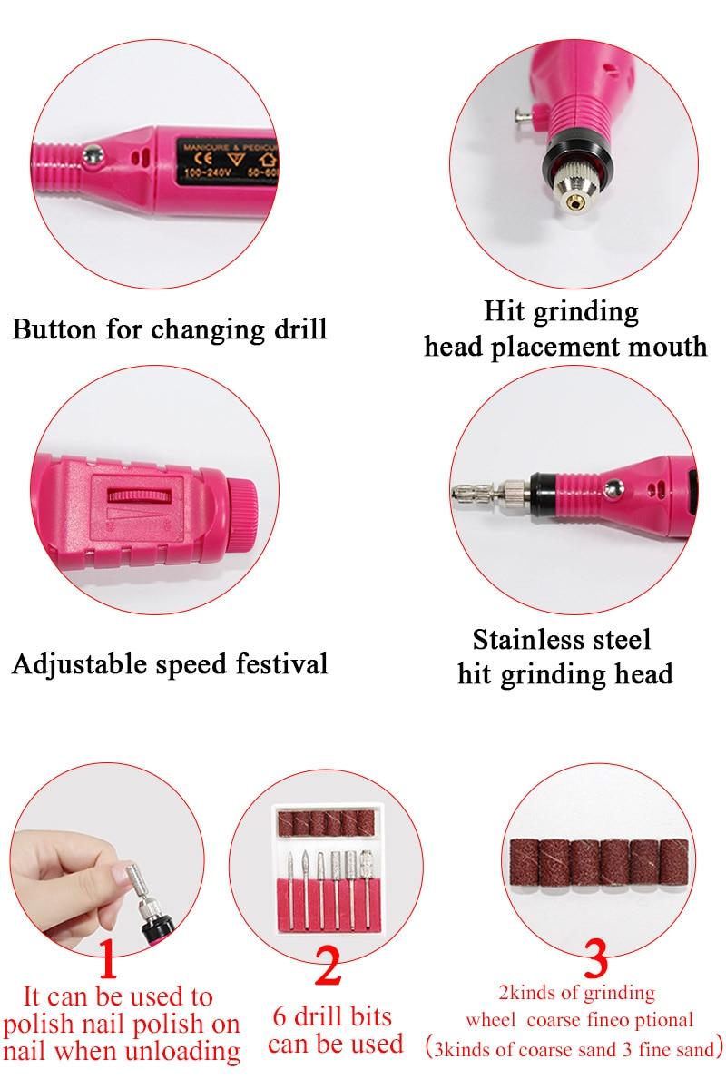 Nail set and Nail Lamp Polish Kit