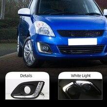 CSGJMY 2PCS 12V LED Auto DRL luce di marcia diurna Luce per suzuki swift 2014 2015 2016 con la nebbia hole coperchio della lampada
