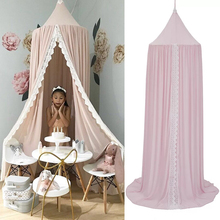 Hanging Kids Baby Bedding Dome Bed Canopy Chiffon Mosquito Net Bedcover Curtain For Kids Reading Canopy Home Decor Anti Mosquito недорого