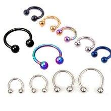 1 pçs em forma de u falso nariz anel aro septo anéis de aço inoxidável nariz piercing falso pircing jóias