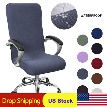 9 Colors Modern Spandex Computer Chair Cover 100% Polyester Elastic Fabric Office Chair Cover Easy Washable Removeable