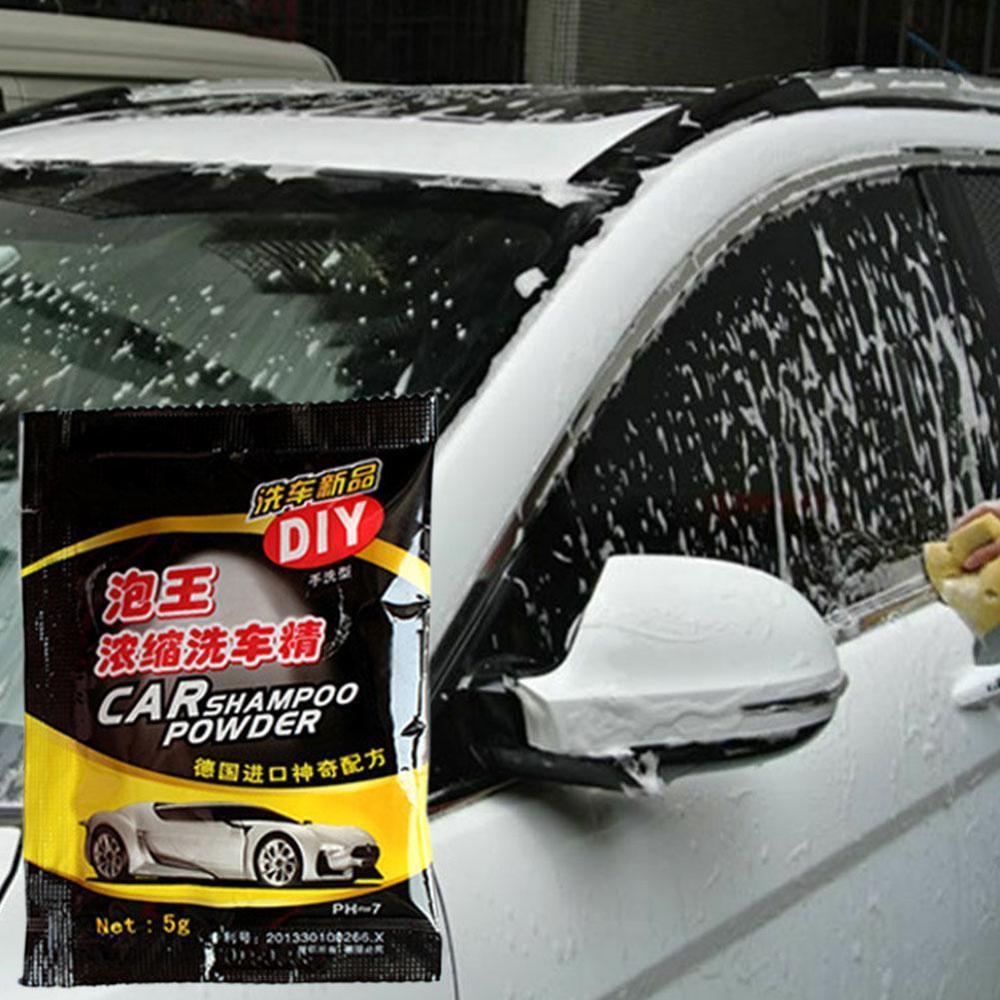 Useful 5PCS Car Wash Shampoo Universal Cleaning Car Shampoo Multifunctional Cleaning Tools Car Soap Powder Car Windshield Powder