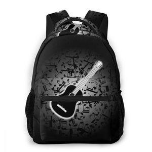 Dzieci torby szkolne plecaki gitara akustyczna Mochila dla nastolatków dzieci chłopcy dziewczyny torba na Laptop plecak tornister