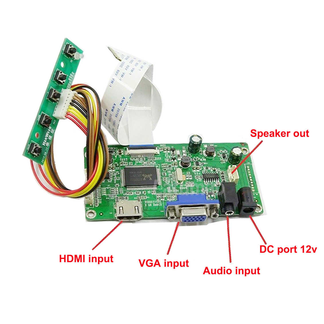 LCD Screen Driver Board Kit for 1920X1080 b156htn03.3 Panel with HDMI+DVI+VGA Input