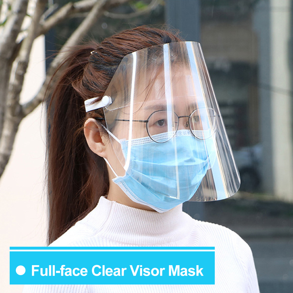 20pcs Anti-Splash Clear Face Cover with clear Vision and Elastic Headband for Full Face Protection 16