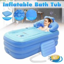 Portable Foldable Thickened Inflatable Bathtub Home Camping Travel Bath Outdoor Swimming Pool Family Pool Spa for Adult or Child