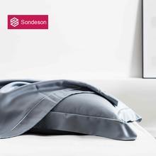 Sondeson Luxury 100% Silk Gray Pillowcase 25 Momme Silk Beauty Healthy Skin Hair Pillow Case For Women Men Kids Free Shipping