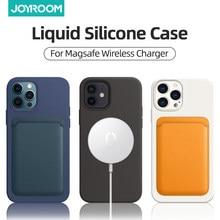 IPhone 12 Pro Max Case için Magsafe kablosuz şarj darbeye tam koruma sıvı silikon kılıf iPhone 12