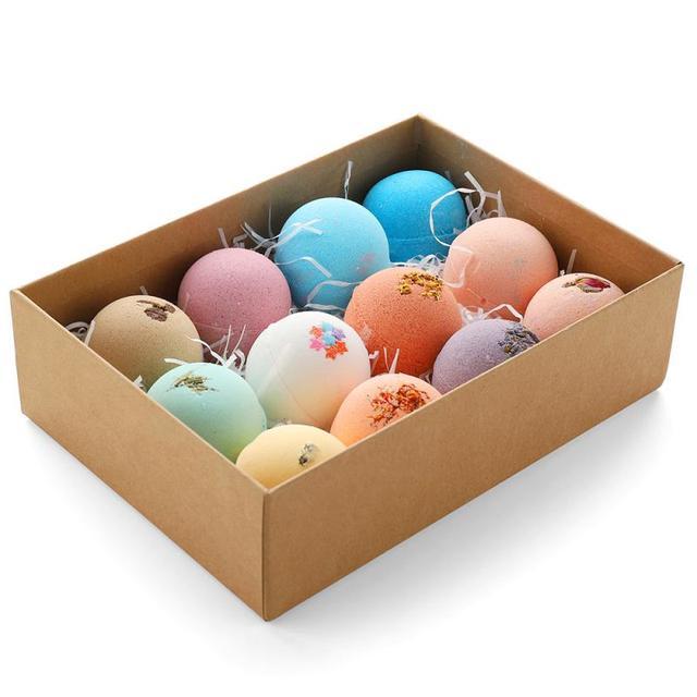 12pcs/set Petal Handmade Essential Oil Moisturize Bath Salt Bubble Bath Bomb Bubble Bath Petal Soap box pack Hot Sale 2020 TSLM1 4