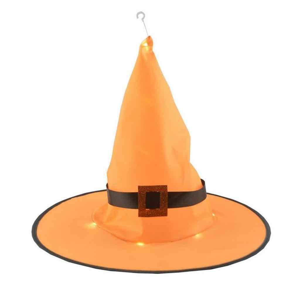 1 шт., шляпа ведьмы для взрослых, костюм на Хеллоуин, светящийся головной убор, косплей, вечерние, реквизит, шляпа ведьмы на Хэллоуин, L * 5