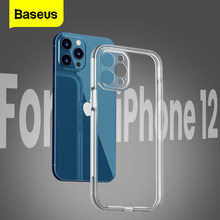Baseus Clear Phone Case For iPhone 12 Pro 12Pro Max Mini Camera Protection Shockproof Transparent TPU Silicone Back Cover Case