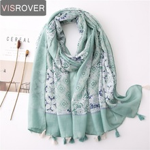 Visrover 2020 New Summer Floral Scarf For Women Shawl Patchwork Scarf