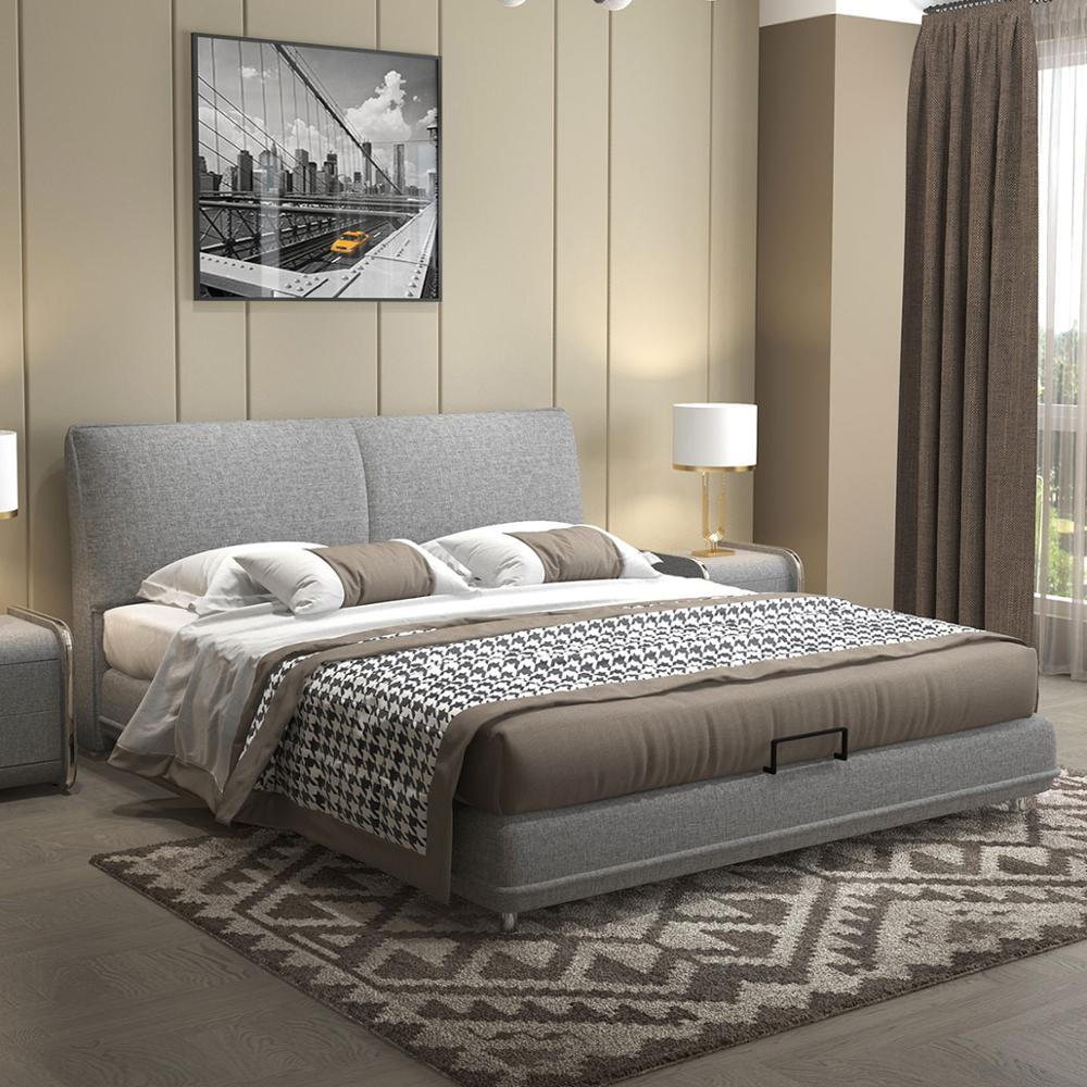 RAMA DYMASTY Fashion Fabric Soft Bed Modern Design Bed Bett, Cama Fashion King/queen Size Bedroom Furniture