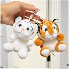 Zoo baby брелок для ключей в форме тигра плюшевый кулон нулевой