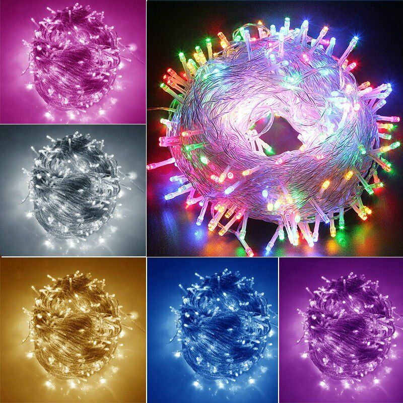 1000LED Fairy String Lights Outdoor Indoor Patio Garden Waterproof Lighting US