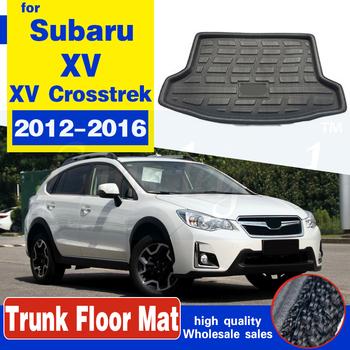Samochód na tylny bagażnik mata do wyłożenia podłogi bagażnika bagażnika dywany podłogowe podkładka pod tacę Mat dla Subaru XV XV Crosstrek Impreza Hatchback 2012 #8211 2014 2015 2016 tanie i dobre opinie lane legend CN (pochodzenie) z włókien syntetycznych