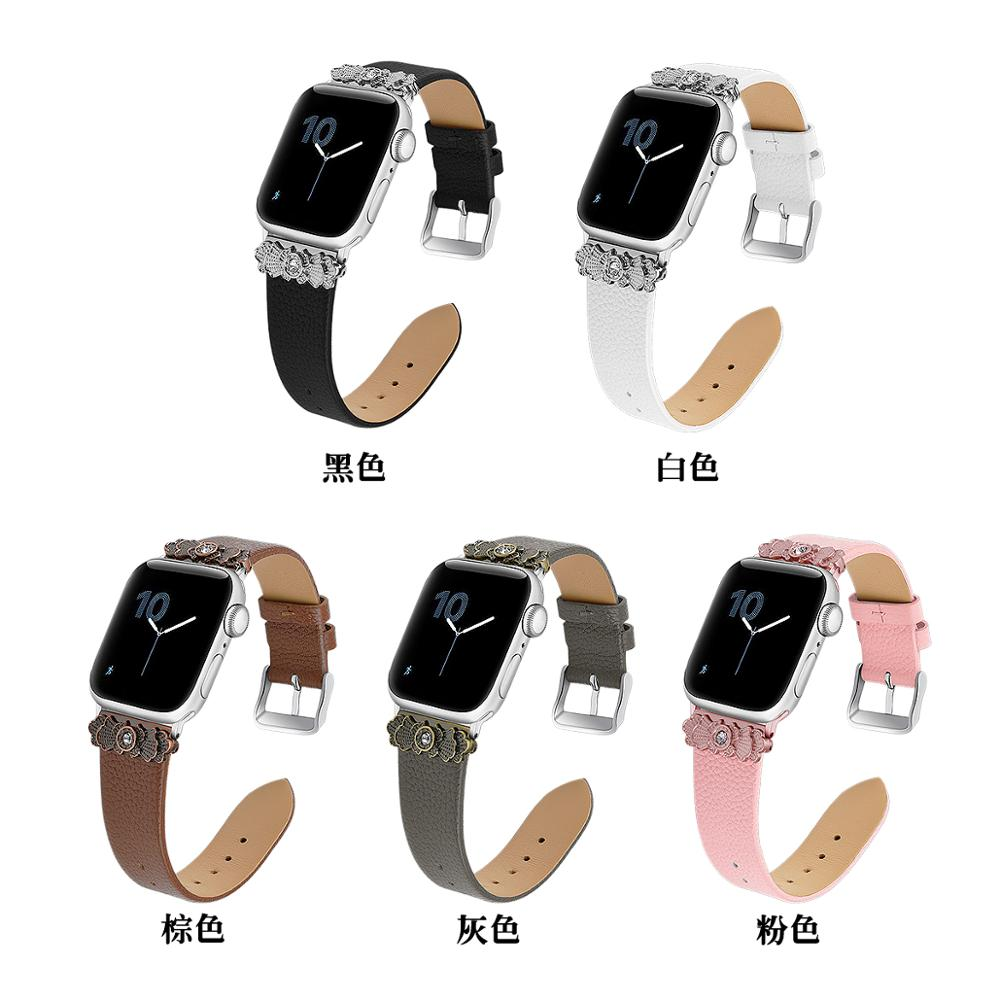 Panda100 Compatible Apple Watch Band 38mm 40mm, Top Grain Leather Band Replacement Strap For IWatch Series 5,4,3,2,1