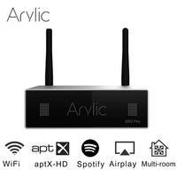 Arylic S50 Pro WiFi & aptX HD Preamplifier With ESS Sabre Dac AKM ADC Multiroom Airplay Spotify Tidal Internet Radio