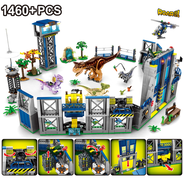 Jurassic Dinosaur World 2 Velociraptor mini Park Dino Figure Building Blocks Bricks Compatible with Toys For Children 1