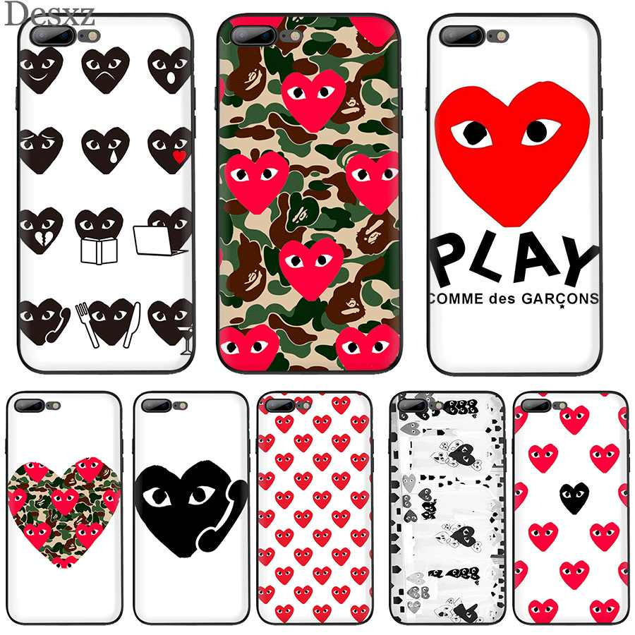 Etui na iPhone 5 5S SE 6 6s 7 8 Plus iPhone 11 Pro X XR XS etui max XR słodkie CDG PLAY