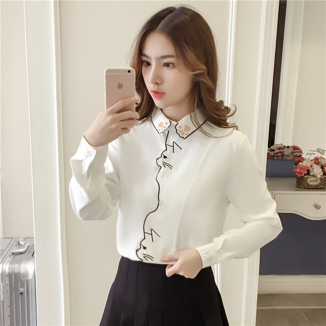 Long Sleeve Embroidery Blouse 4