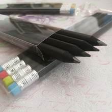 3 шт черная деревянная Толстая ручка hb искусственное письмо